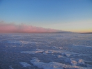 Полоса бурана на Байкале. Январь 2017