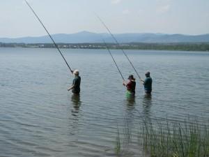 Рыбаки на Щучьем озере