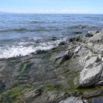 Прибой волны на Байкале