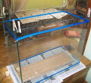 Выставляем стекла будующего аквариума