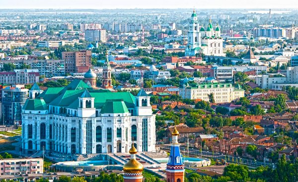 в Астрахань