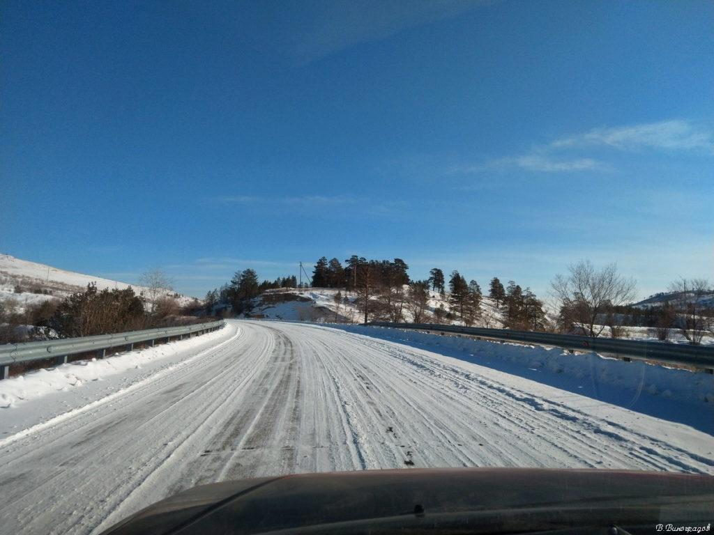 дорога в зимний лес