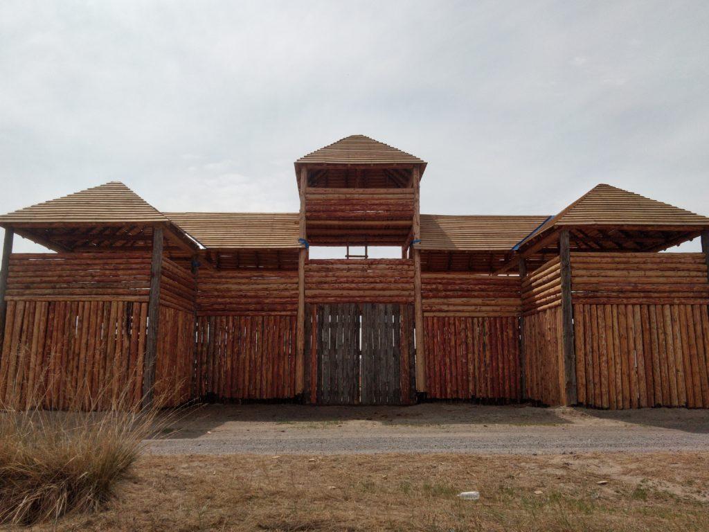 Гуннское городище. Въездные ворота в крепость