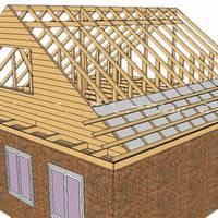 Двускатная крыша от мауэрлата до обрешетки